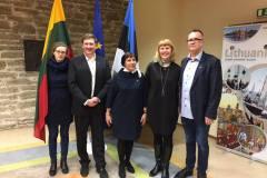Estijos LB valdyba, iš kairės: Justina Pajus, Tomas Tamošiūnas, Rimutė Semper, Rita Kuzminienė, Vaidas Matulaitis.